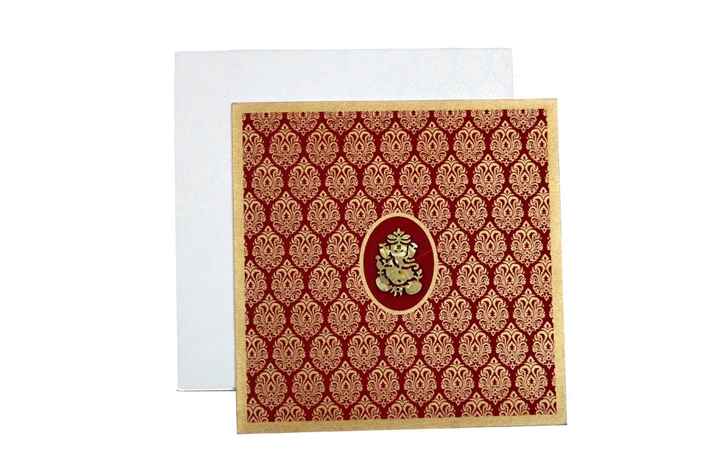 Hindu Wedding Card AC 211 Top View