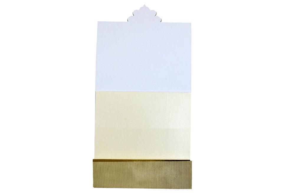 Designer Wedding Card AC 214 Top Inside View