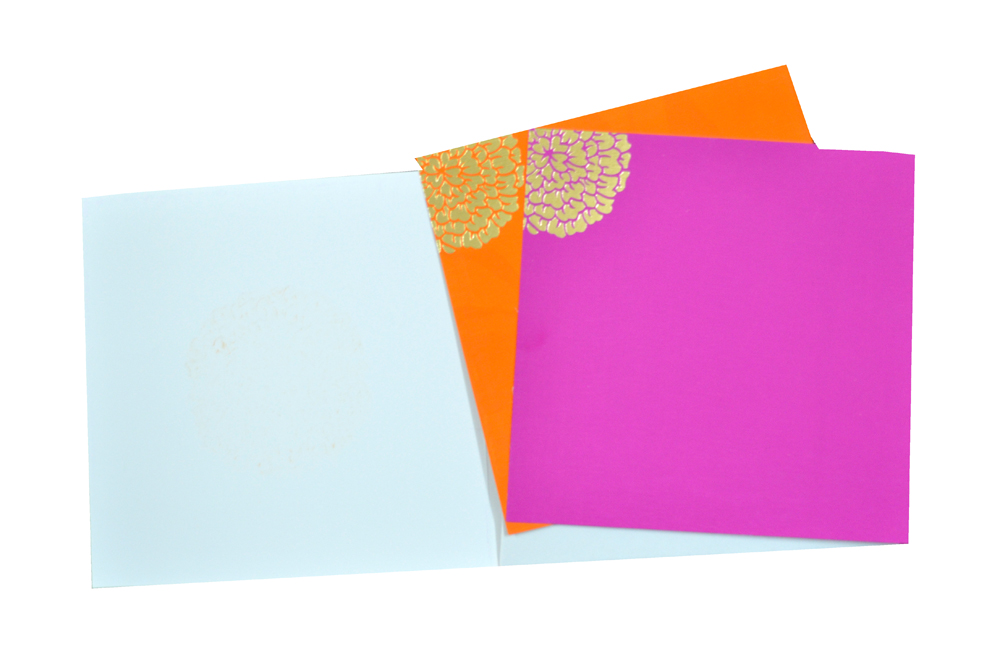 Designer Wedding Card AC 215 Top Inside View
