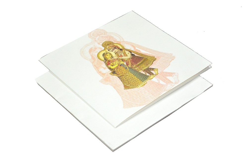 Radha Krishna Theme Wedding Card AC 220
