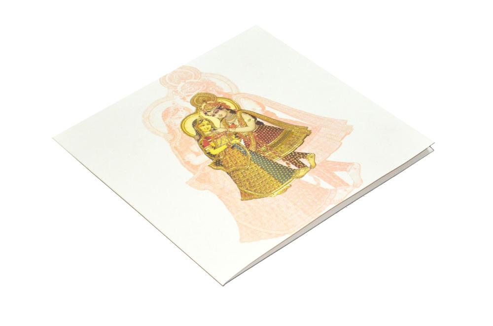 Radha Krishna Theme Wedding Card AC 220 Card