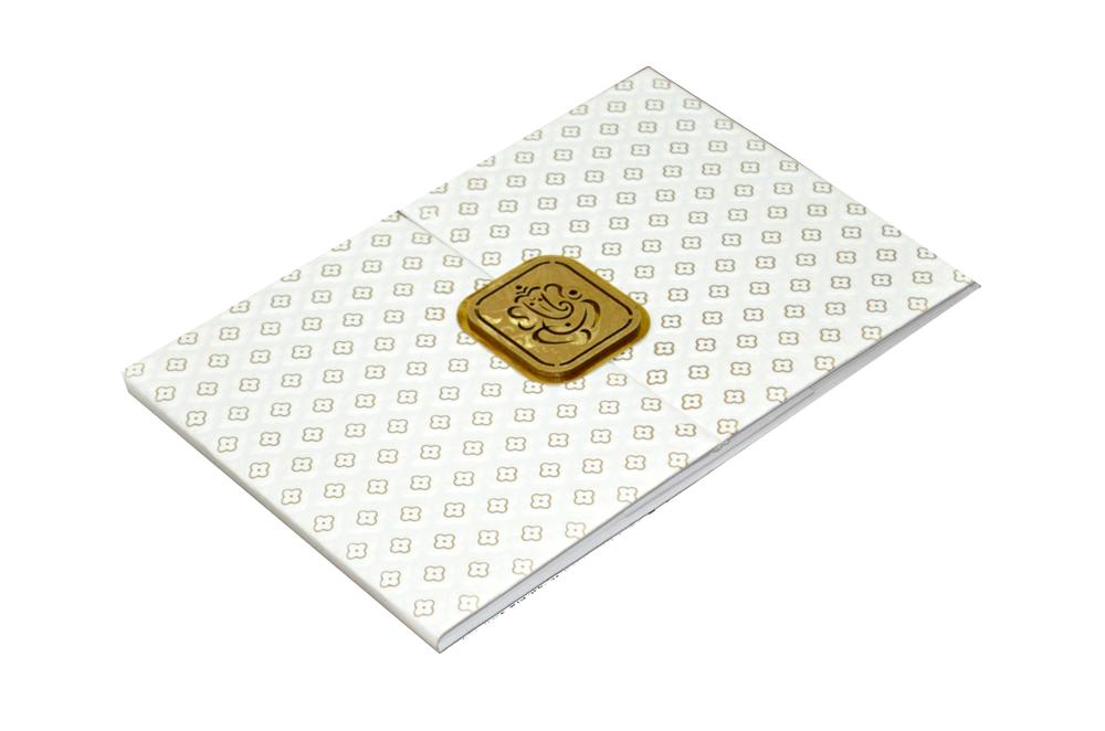 Padded Hindu Wedding Card AC 230 Card