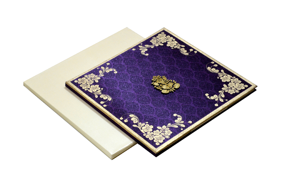 Satin Cloth Hindu Wedding Card AC 241