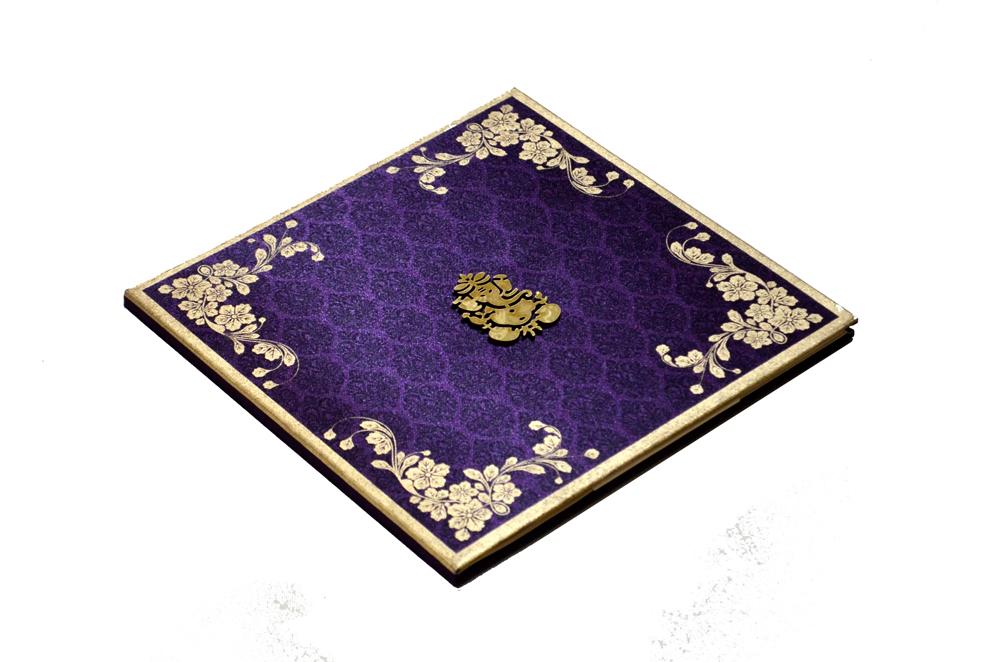 Satin Cloth Hindu Wedding Card AC 241 Card