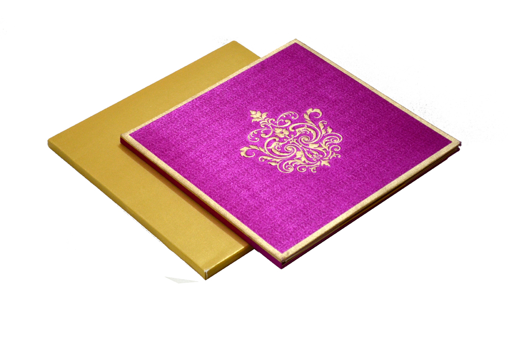 Satin Cloth Wedding Card AC 243