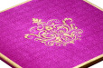 Satin Cloth Wedding Card AC 243 Zoom View