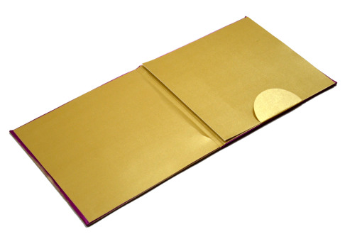 Satin Cloth Wedding Card AC 243 Inside View