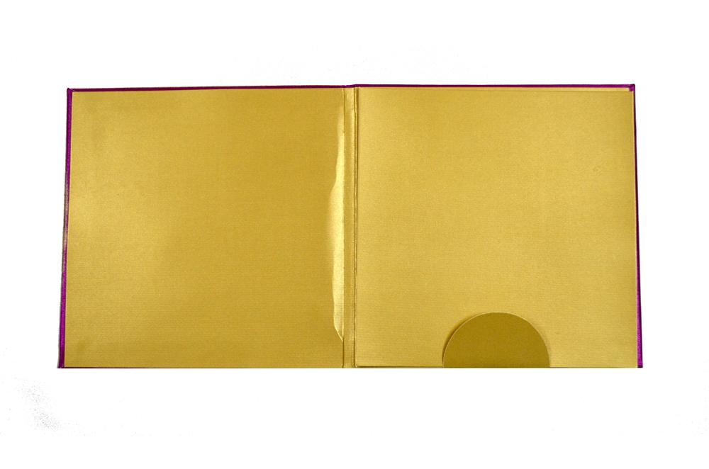 Satin Cloth Wedding Card AC 243 Top Inside View