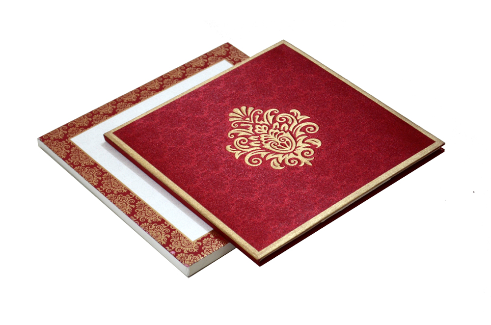 Red Padded Satin Cloth Card AC 323