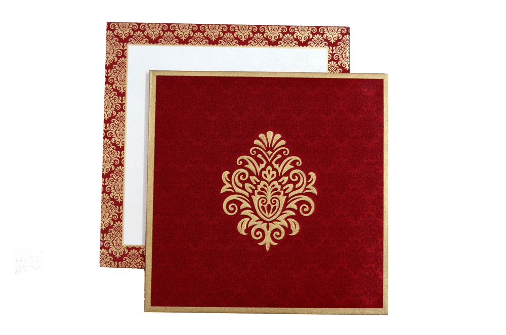 Red Padded Satin Cloth Card AC 323 Top View