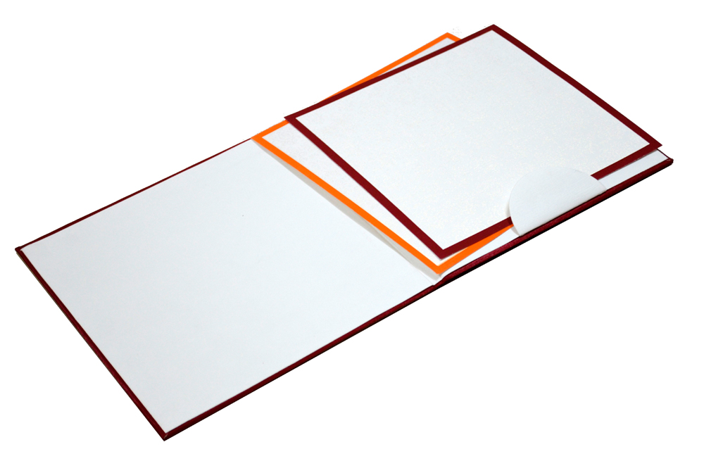 Red Padded Satin Cloth Card AC 323 Inside View