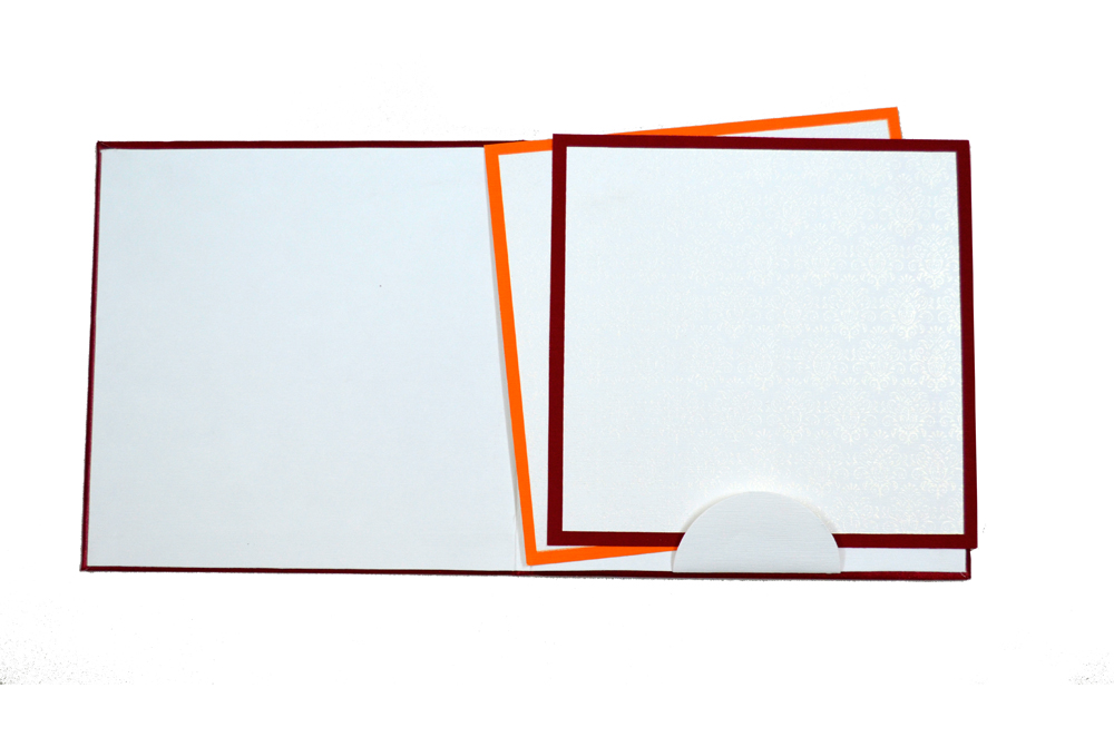 Red Padded Satin Cloth Card AC 323 Top Inside View