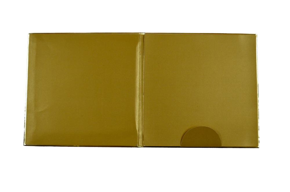 Satin Cloth Padded Wedding Card Design AC 325 Top Inside View