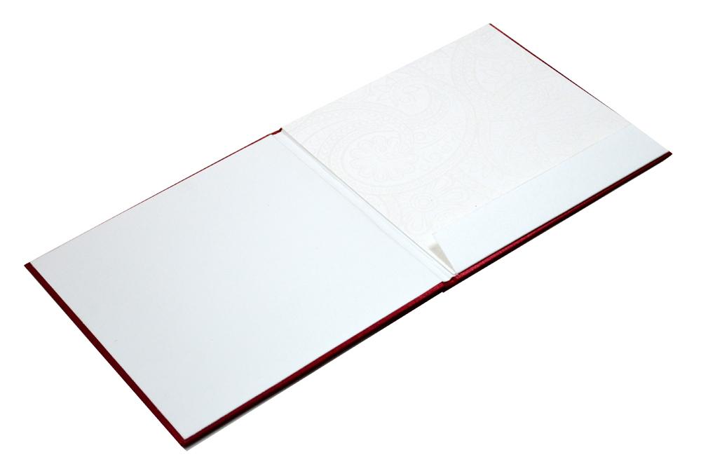 Satin Cloth Padded Wedding Card Design AC 327 Inside View