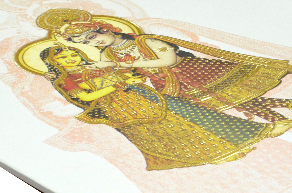 Radha Krishna Theme Card AC 329 Zoom View
