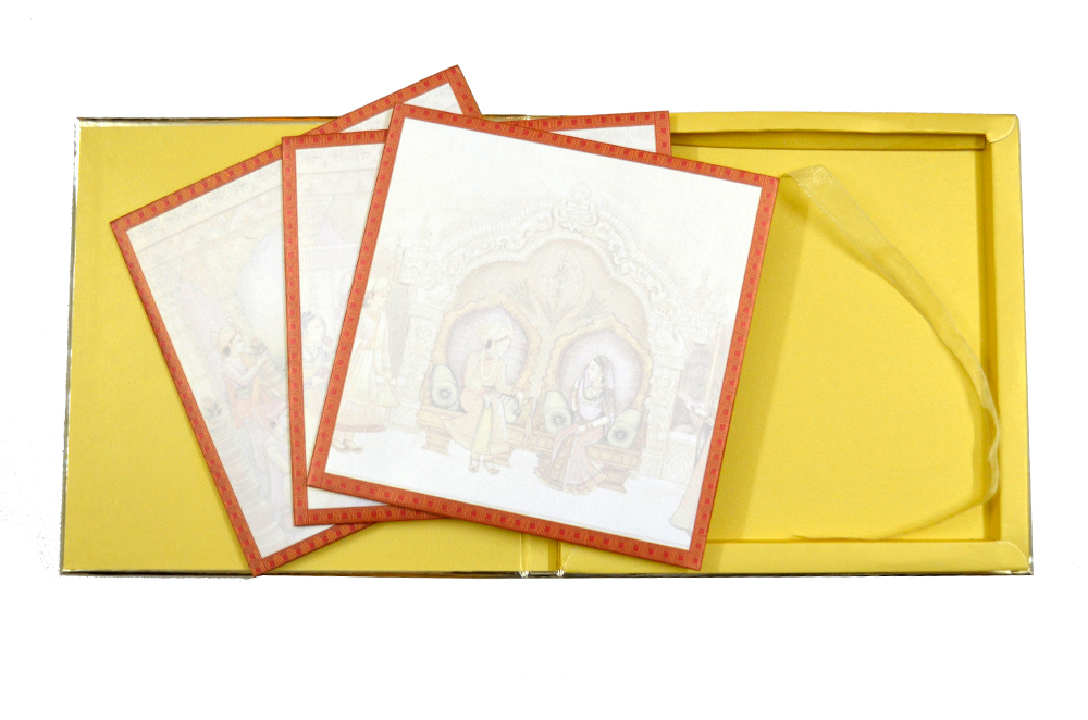 Exclusive Designer Wedding Card AC 333 Top Inside View