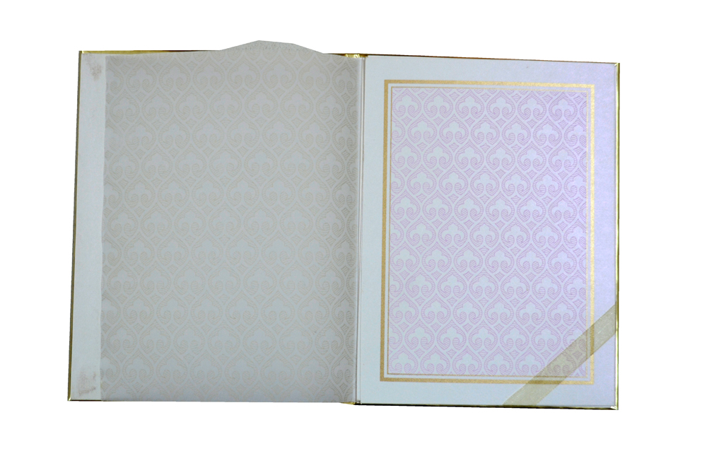 Laser Wedding Card AC 336 Top Inside View