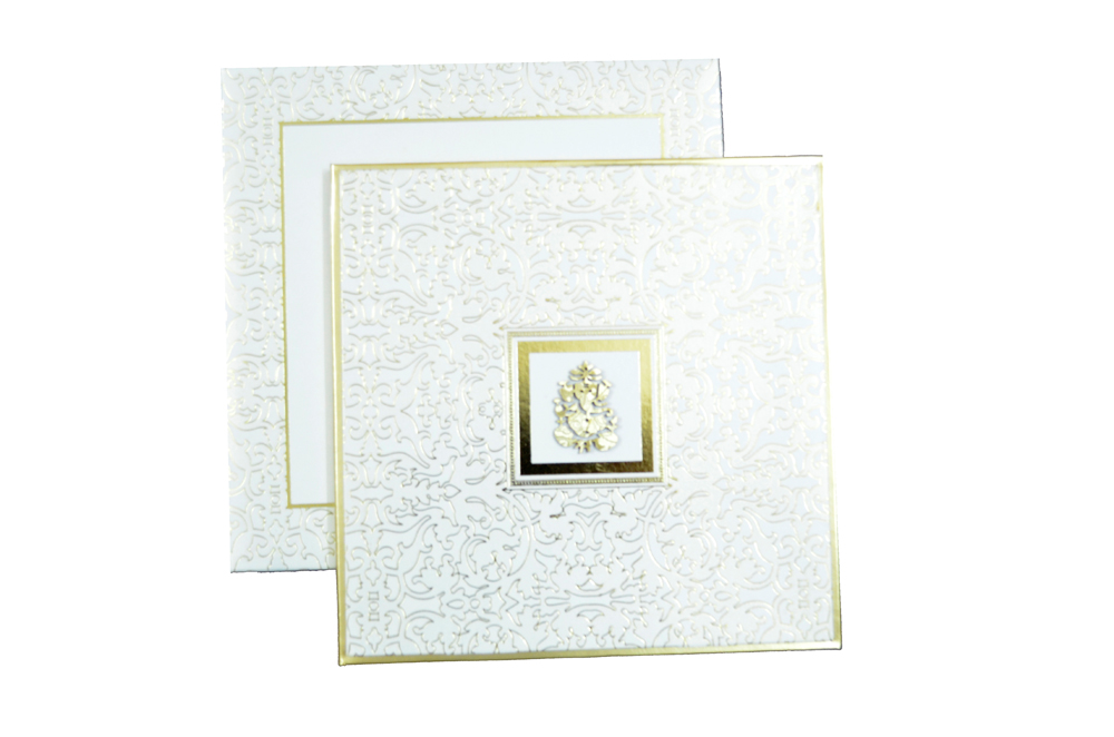 Padded Wedding Card AC 338 Top View