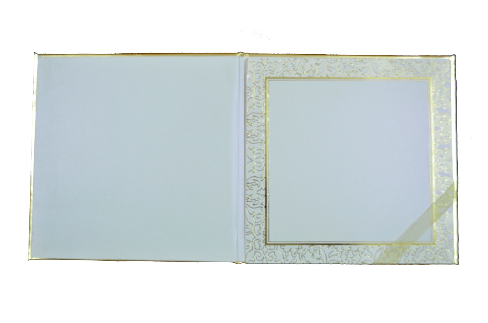 Padded Wedding Card AC 338 Top Inside View