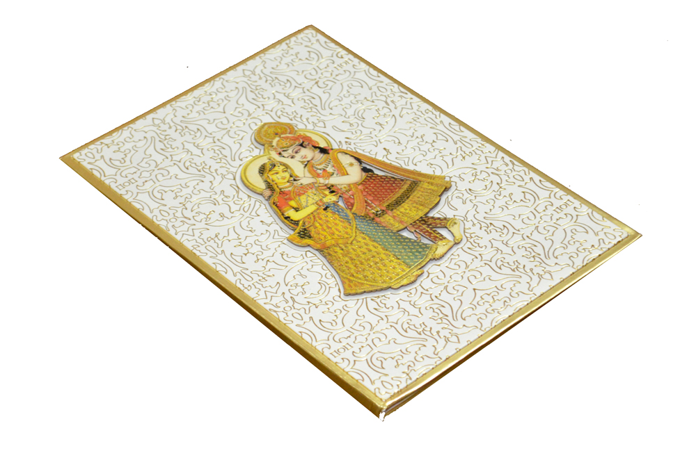 Radha Krishna Theme Wedding Card AC 340 Card