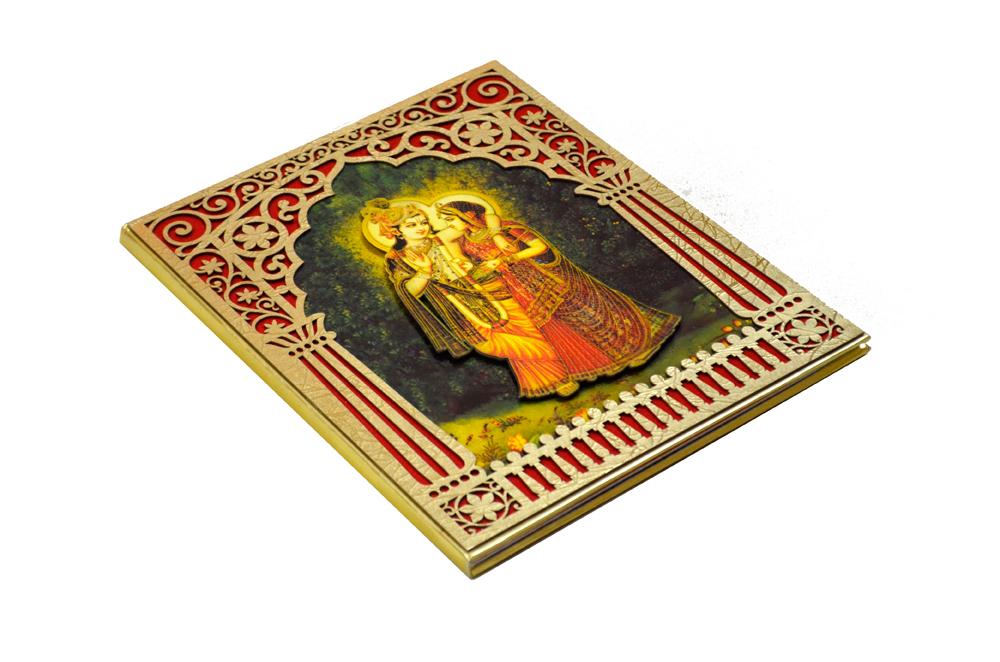 Designer Radha Krishna Theme Wedding Card AC 344 Card