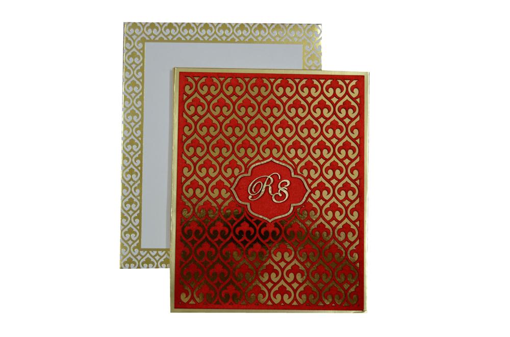 Exclusive Designer Wedding Card AC 346 Top View