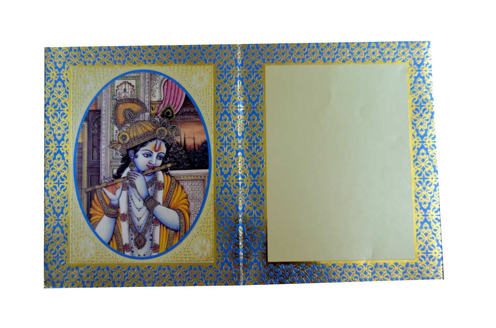 Exclusive Designer Wedding Card AC 346 Top Inside View 2