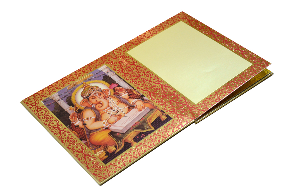Exclusive Designer Radha Krishna Theme Wedding Card AC 347 Inside View 1