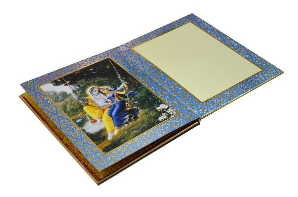 Exclusive Designer Radha Krishna Theme Wedding Card AC 347 Inside View 3