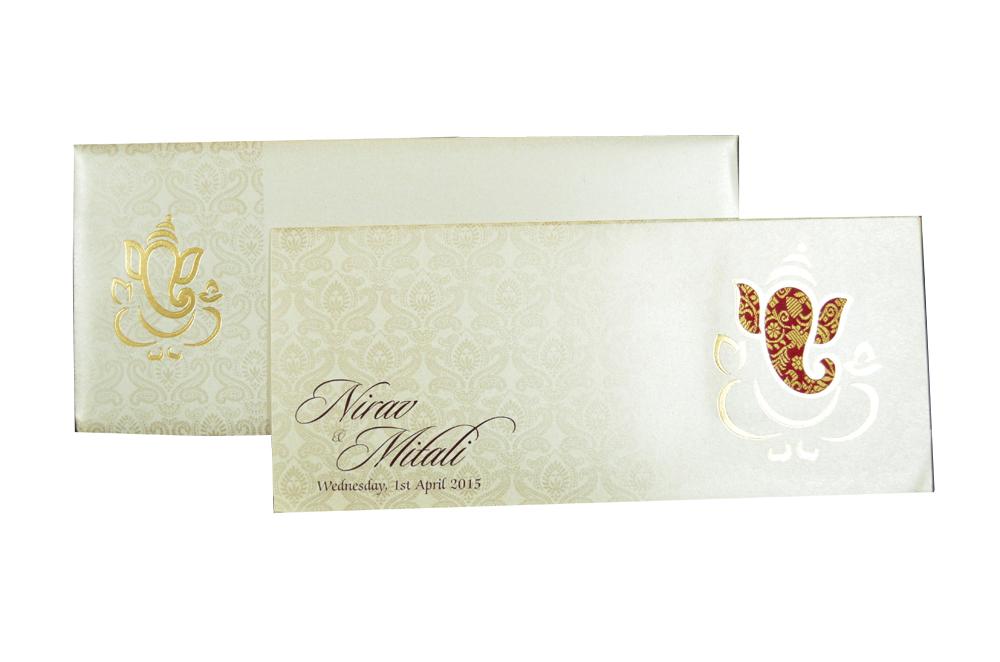 Hindu Wedding Card PP 6056 Top View