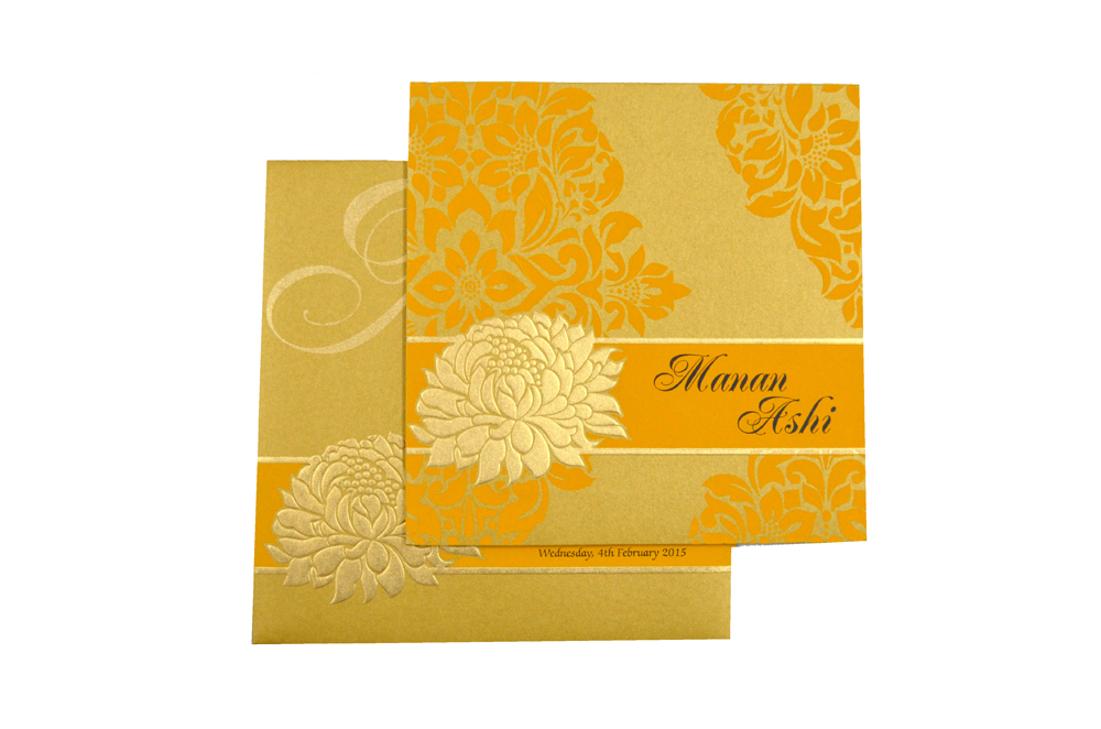 Designer Wedding Card PP 7999 Top View
