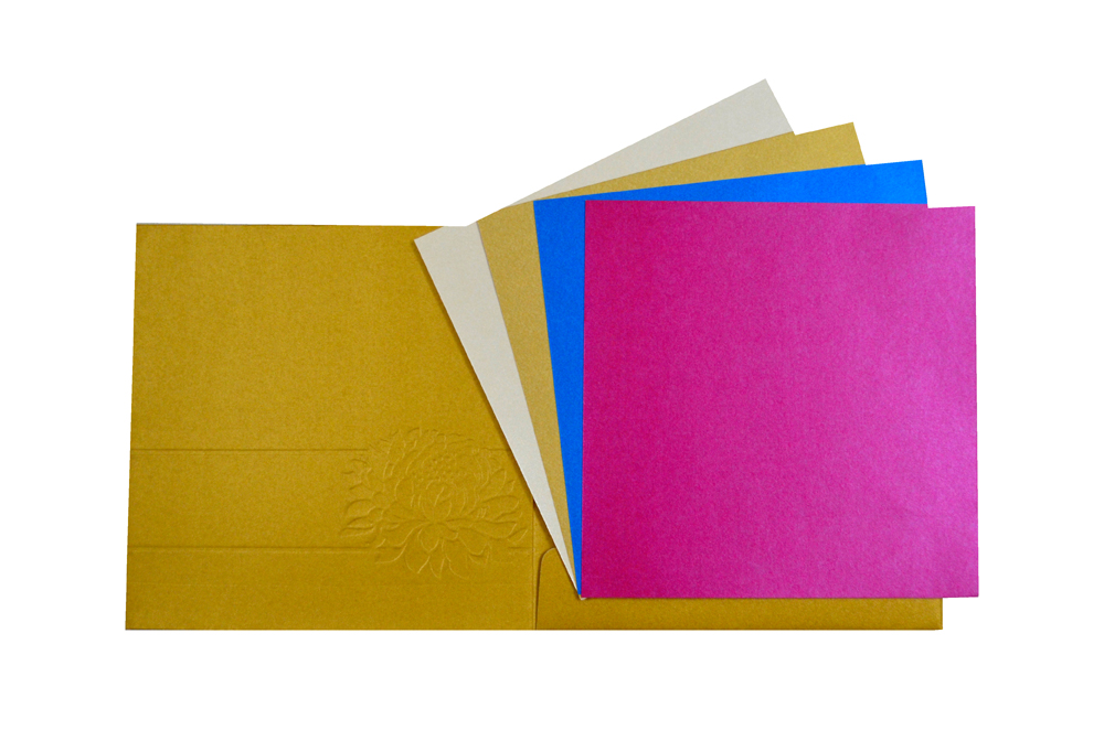 Designer Wedding Card PP 7999 Top Inside View