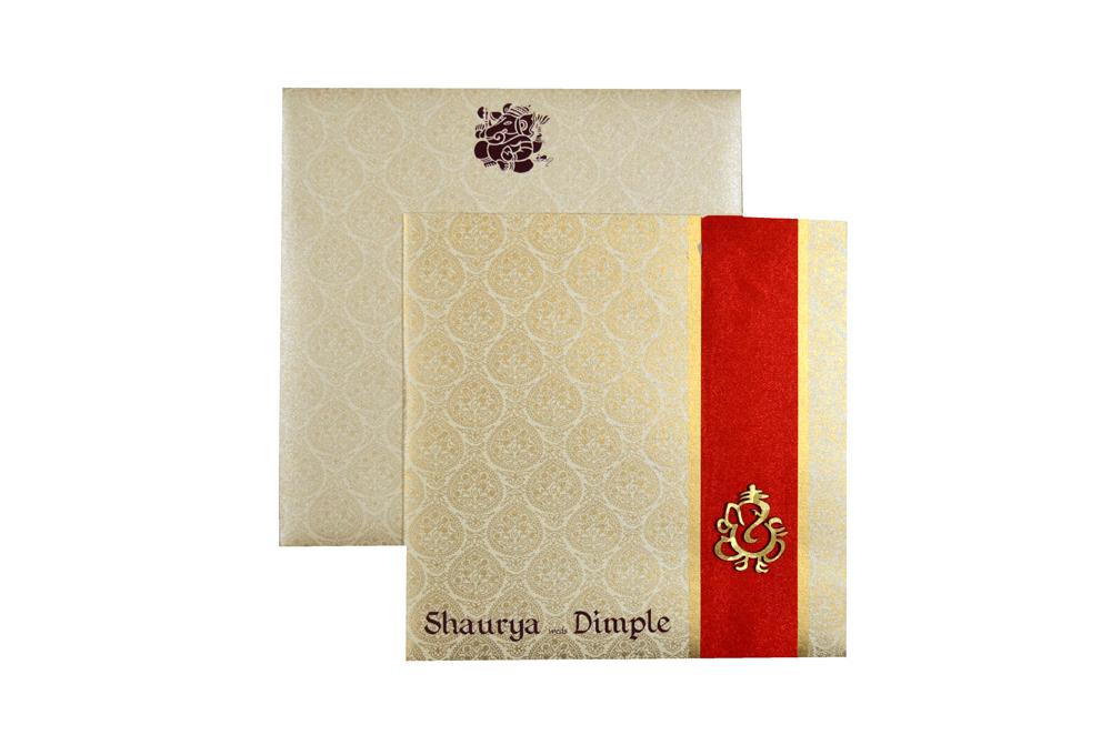 Hindu Wedding Card PP 8001 Top View