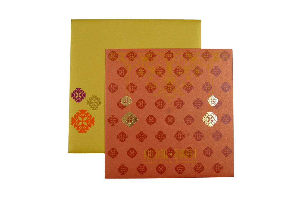 Designer Wedding Card PP 8076 Top View