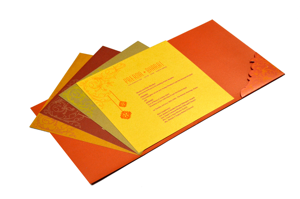 Designer Wedding Card PP 8076 Inside View