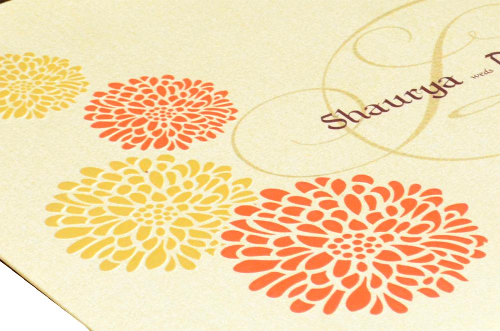 Designer Wedding Card PP 8120 Zoom View