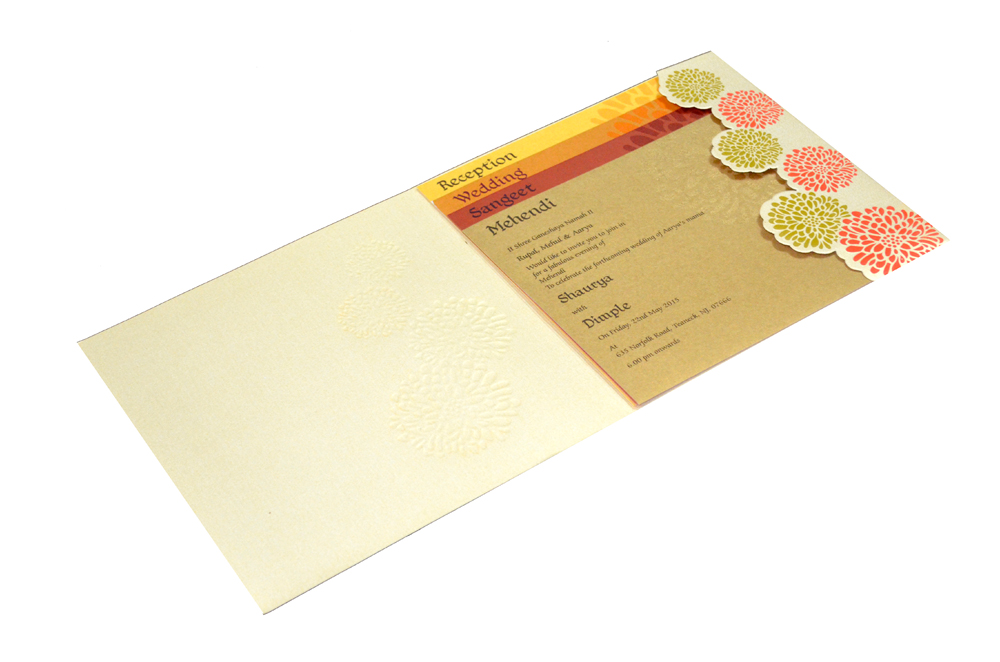 Designer Wedding Card PP 8120 Inside View