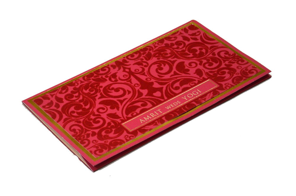 Velvet Cloth Wedding Card PP 8123 Card