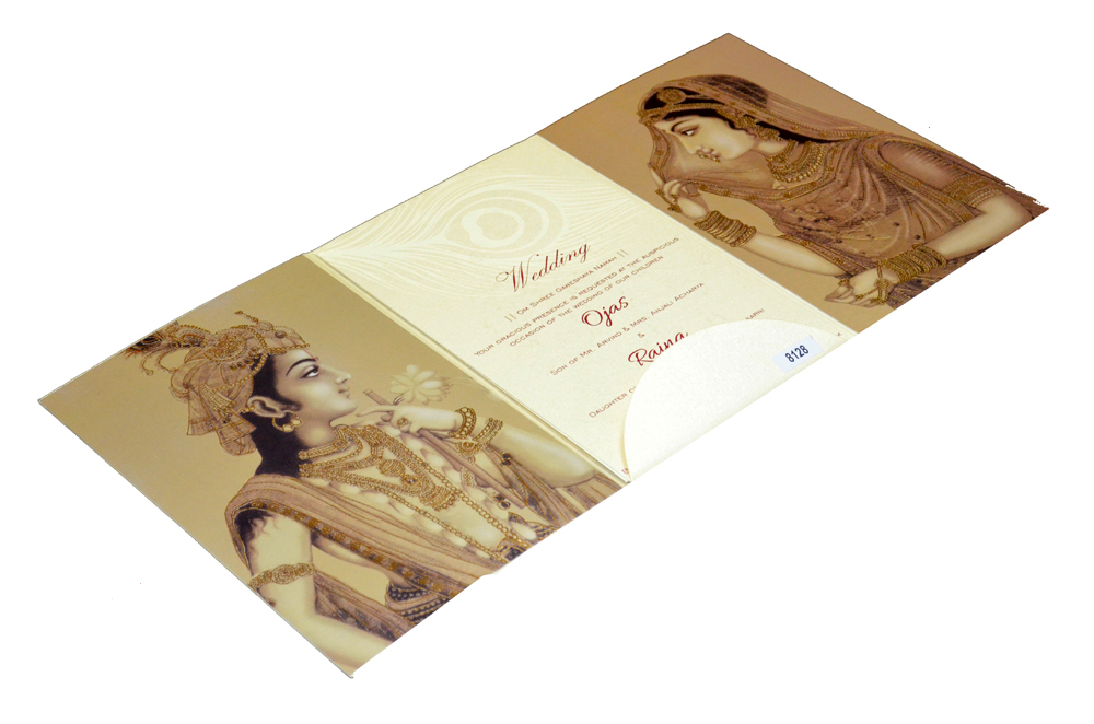 Designer Wedding Card PP 8128 Inside View 2