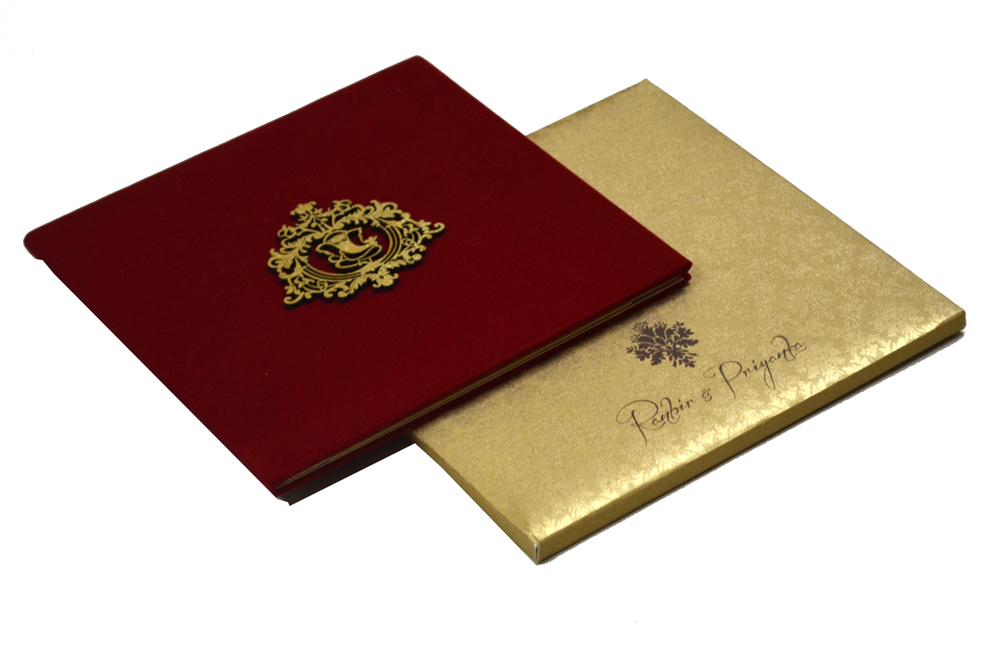 Satin Cloth Wedding Card PP 8130