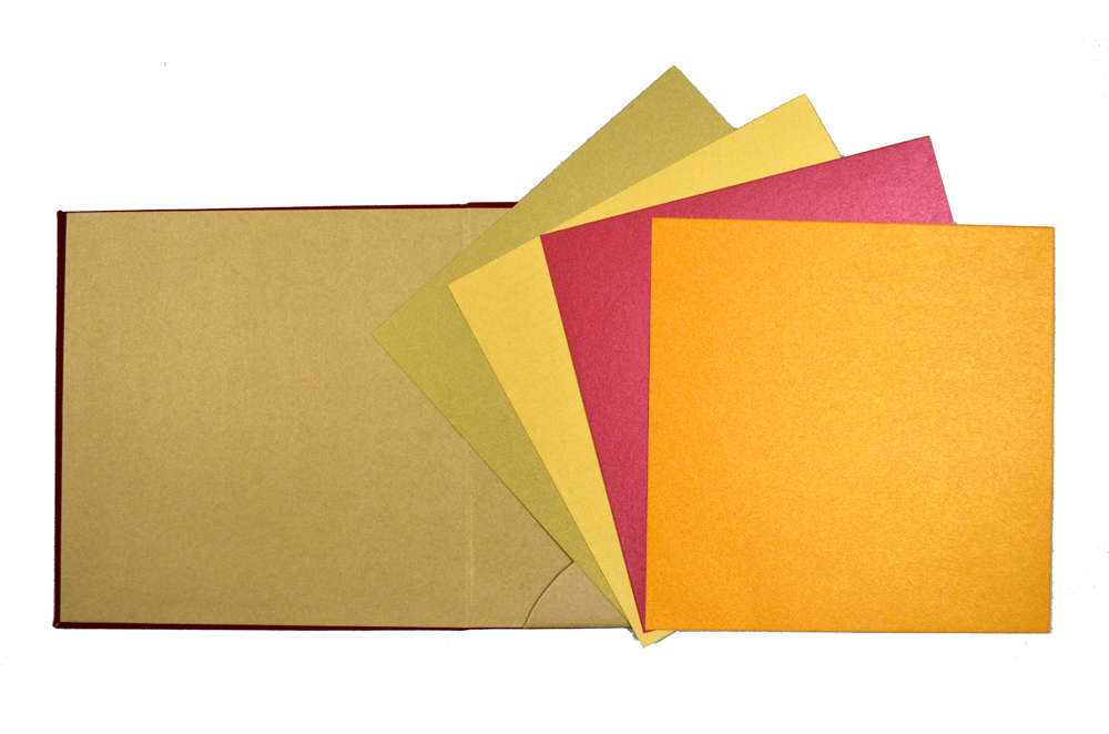 Satin Cloth Wedding Card PP 8130 Top Inside View