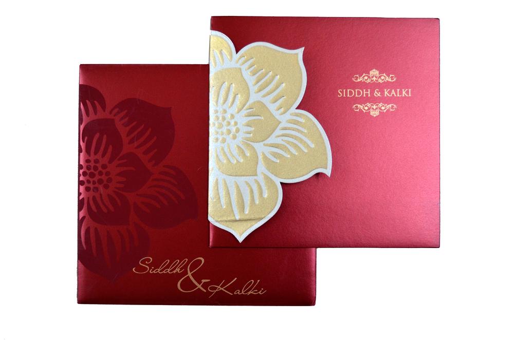 Designer Wedding Card PP 8135 Top View