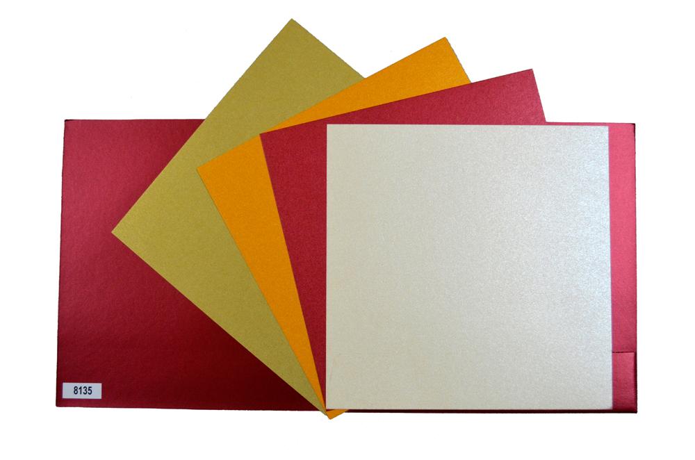 Designer Wedding Card PP 8135 Top Inside View