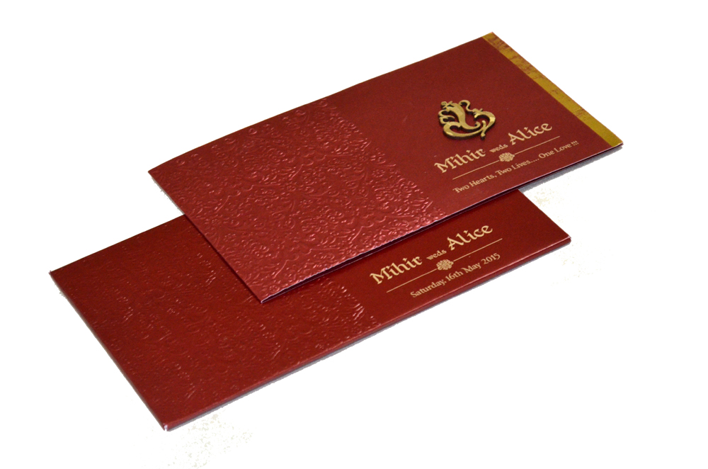 Hindu Wedding Card PP 8210