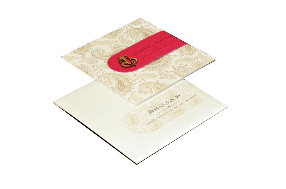 Designer Wedding Card PP 8214