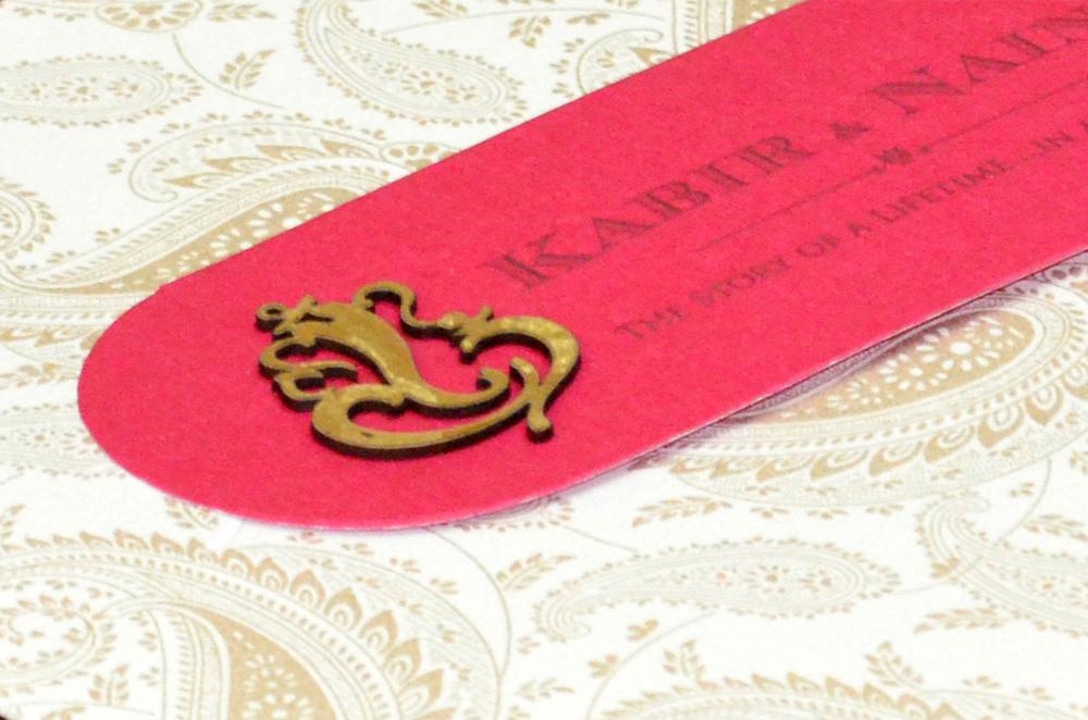Designer Wedding Card PP 8214 Zoom View