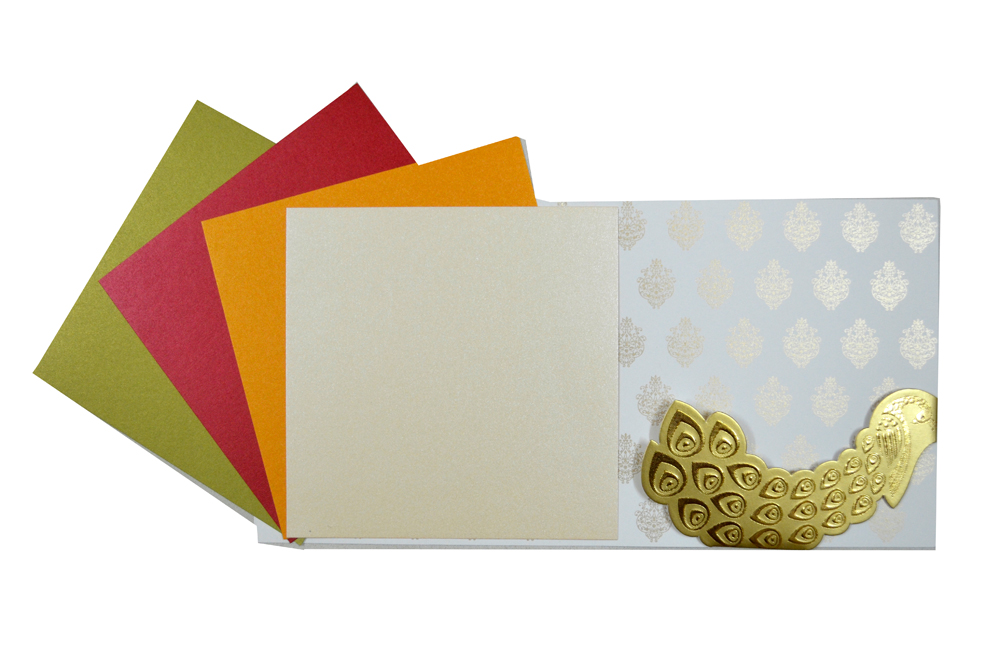 Elephant Theme Wedding Card PP 8215 Top Inside View