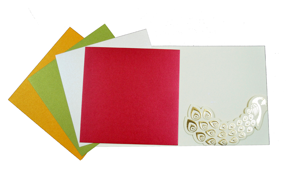 Elephant Theme Wedding Card PP 8216 Top Inside View
