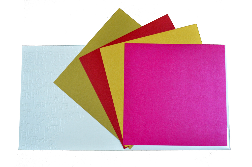 Hindu Wedding Card PP 8226 Top Inside View