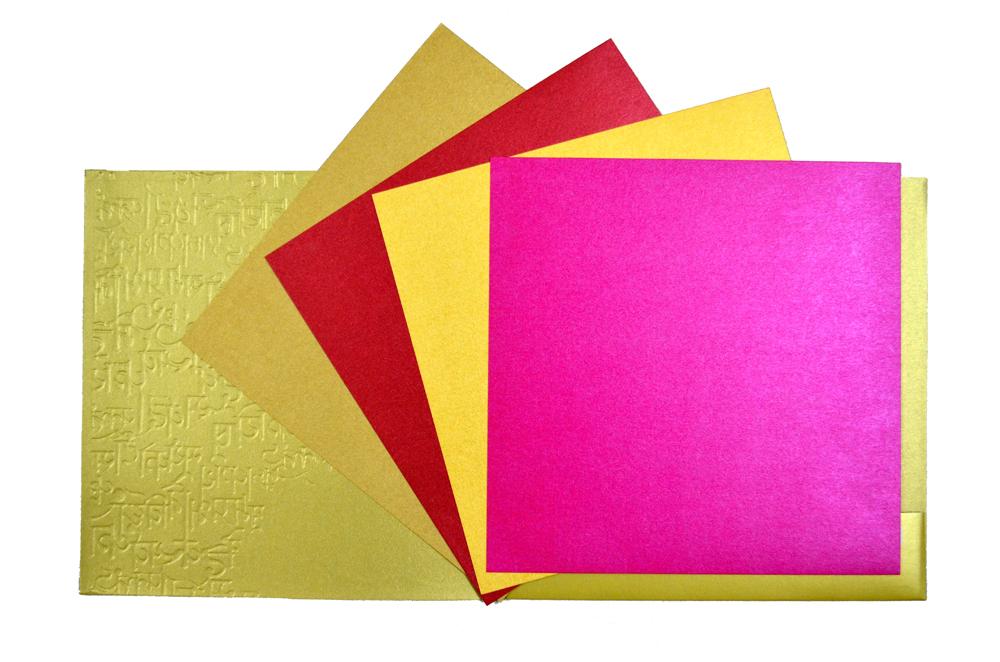 Hindu Wedding Card PP 8227 Top Inside View